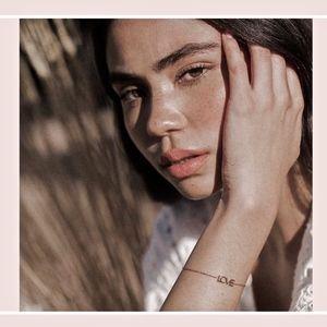 Maya Brenner Jewelry - MAYA BRENNER~NWT~LOVE~BRACELET~14KT GOLD Pl~w/BAG